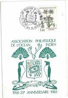 La Réunion - Saint Denis - Association Philatélique De L'Océan Indien - 23 Juillet 1983 - 1980-1989
