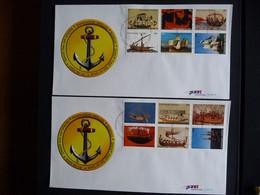 (4)  NEDERLANDSE ANTILLEN 2003 FDC'S E350A+B TRANSPORT ZEILSCHIP SCHEPEN SAILING SHIP SEGELSCHIFFE BATEAUX - Antillas Holandesas