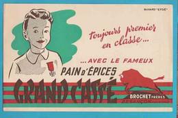 """BUVARD&Blotter Paper:  Pain D'Epices GRAND CASSE  """" Besançon """" - Gingerbread"""
