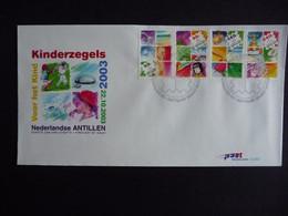 (4)  NEDERLANDSE ANTILLEN 2003 FDC E352 KINDERZEGELS WATER REGEN KRAAN DOUCHE STAMPS FOR CHILDREN JUGENDWOHLFAHR - Antillas Holandesas
