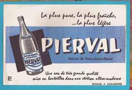 BUVARD&Blotter Paper:  PIERVAL  Source De Pont Saint Pierre - Softdrinks