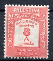 PALESTINE - (Mandat Britannique) - 1924   - Taxe - N° 9 - 8 M. Rouge - Palästina