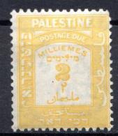 PALESTINE - (Mandat Britannique) - 1924   - Taxe - N° 7 - 2 M. Jaune - Palästina