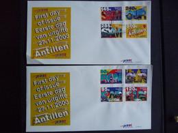 (4)  Nederlandse Antillen, 2003, The Six Islands Of The Antillen, E354a + B, FDC - Antillas Holandesas