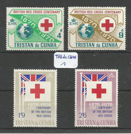 TRI De CUN YT 133/136 En X - Tristan Da Cunha