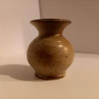 Petit Vase En Grès Cuit Vernissée - Otros