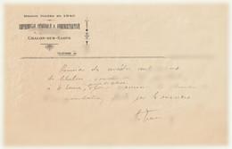 Imprimerie Générale & Administrative 7 Rue Du Temple Chalon Sur Saône 71100 - Réunion Des Maitres Imprimeurs ... - Imprimerie & Papeterie