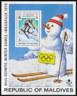 Maldives 1976  Innsbruck Winter Olympics MNH Souvenir Sheet . - Sommer 1976: Montreal