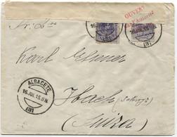 1915 Carta De Albacete A Suiza Censurada, I Guerra Mundial - 1931-50 Cartas