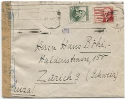 1938 Carta De Barcelona A Zurich - 1931-50 Cartas