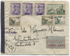 1940 Carta Aérea De Las Palmas A Suiza - 1931-50 Cartas