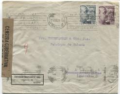 1943 Carta De Madrid A Basilea - 1931-50 Cartas