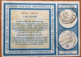 India 1973 1 .50 Rupee IRC India  &  Germany  Both Post Mark. - Sin Clasificación