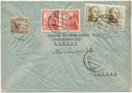 1949 Carta De Correo Aéreo De Málaga A Zurich. - 1931-50 Cartas