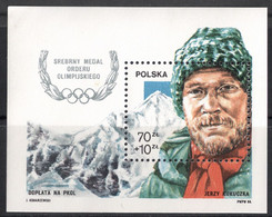 Poland, 1988 (#3158b), Olympic Silver Medal For Jerzy Kukuczka Mountains, Berge, Montañas, Montagnes, Montanhas - Sonstige