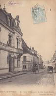 28  Eure  Et  Loir  -  Nogent  Le  Rotrou  -  La  Caisse  D'Epargne  Et  La  Rue  Saint  Hilaire - Nogent Le Rotrou
