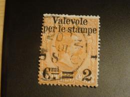 ITALIE ITALIA ITALY 1890 Colis Postaux Avec Surcharge  VALEVOLE  PER LE STAMPE- - Gebraucht