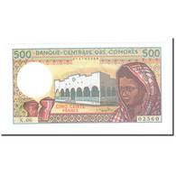 Billet, Comores, 500 Francs, KM:10b, NEUF - Comoros