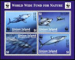 UNION ISLAND 2002 WWF Shortfin Mako Shark Sharks Marine Life Animals Fauna MNH - Other