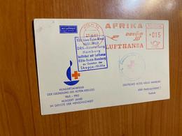 Allemagne - Lettre Anniversaire 1963 Croix Rouge Lufthansa Afrika ( Voire Scan) - Cartas