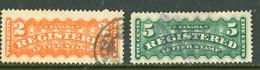 Canada USED 1875-96 Registration Stamps - Oblitérés