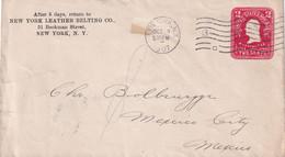 USA 1907    ENTIER POSTAL/GANZSACHE/POSTAL STATIONARY LETTRE DE NEW YORK - 1901-20