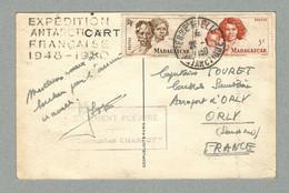 1950 TRÈS RARE CARTE DES EXPÉDITIONS POLAIRES FRANÇAISES (EPF) AU TARIF POSTAL - Unclassified