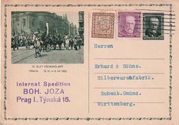 TCHECOSLOVAQUIE 1931     ENTIER POSTAL/GANZSACHE/POSTAL STATIONARY CARTE CARTE ILLUSTREE DE PRAHA - Postales