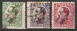 Spanish Morocco 1929 Sc 122,124-5  Used - Marruecos Español