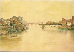 V5711 Ettore Roesler Franz - Roma Sparita - Il Tevere Alla Farnesina - Dipinto Paint Peinture - Articles Of Virtu