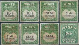 Stati Uniti D'america,United States,U.S.A, Series Of 1941 Revenue Stamps WINES Internal Revenue,Lot Of 8 Stamps Mix Used - Fiscaux