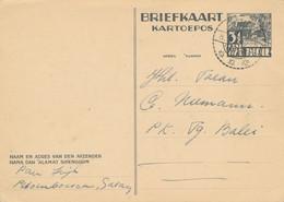 Nederlands Indië - 1939 - 3,5 Cent Karbouwen, Briefkaart G63 Van LB Galang Naar Tandjong Balei - Niederländisch-Indien