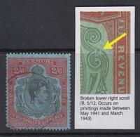 "Bermuda, SG 117ae, Used (major Faults) ""Broken Lower Right Scroll"" Variety - Bermudas"