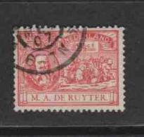 PAYS-BAS  (Y&T) 1907 - N°75   *  Tricentenaire De La Naissance De L'Amiral M.A.de Ruyter   *     2 1/2c   Obli () - Used Stamps