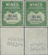 Stati Uniti D'america,United States,U.S.A,Series Of 1941 Revenue Stamps WINES Internal Revenue(PERFIN) - Fiscaux
