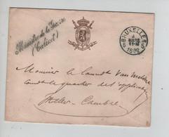 REF3549/ Lettre En Franchise Ministre De La Guerre C.BXL 1892 > Ixelles Cambre C.d'arrivée - Franquicia