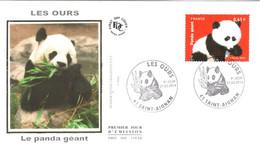 Enveloppe 1er Jour YT 4843 Les Ours, Le Panda Géant 21 03 2014 TBE Cachet Saint-Aignan (41) - 2010-....