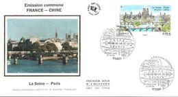 Enveloppe 1er Jour YT 4848 La Seine - Paris, émission Commune Chine France 27 03 2014 TBE Cachet Paris (75) - 2010-....