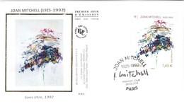 Enveloppe 1er Jour YT 4849 Sans Titre, 1992, De Joan MITCHELL 28 03 2014 TBE Cachet Paris (75) - 2010-....