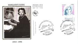 Enveloppe 1er Jour YT 4850 Marguerite DURAS 04 04 2014 TBE Cachet Duras (47) - 2010-....