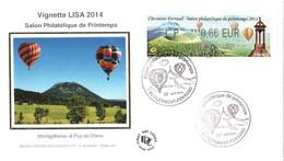 Enveloppe 1er Jour YT LISA 1146 Salon Philatélique De Printemps 0,66€, 04 04 2014 TBE Cachet Clermont-Ferrand (63) - 2010-....