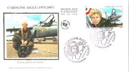 Enveloppe 1er Jour YT PA78 Caroline AIGLE 05 04 2014 TBE Cachet Montauban (82) Poste Aérienne - 2010-....
