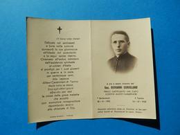 FAIRE PART DECES  Sac GiOVANNI CORIOLANO CAPELLANO AUMONIER LEGIONE ALLIEVI CARABINIERI BARBARESCO RORINO 1957 - Avvisi Di Necrologio
