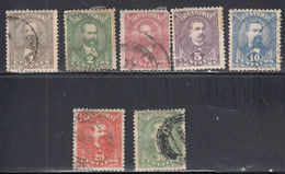 Paraguay, Scott #33-36, 38, 40-41, Used, Famous Men Of Paraguay, Issued 1892 - Paraguay