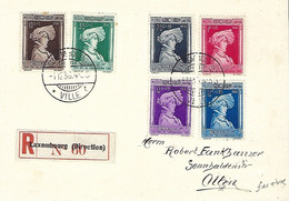 Luxembourg - Luxemburg - Carte Postale  Série Caritas  Cachet FDC  Recommandé  1936  Wenzel I   Duc De Luxembourg - Other