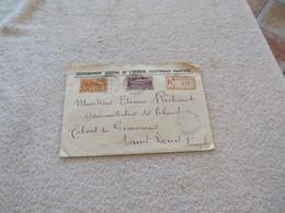 Lettre Recommandé Moyen Congo 1934 Recette Principale Brazzaville - Lettres & Documents