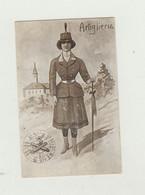 CARTOLINA ARTIGLIERIA POSTA MILITARE DEL 1916 VIAGGIATA VERSO SUBIACO WW1 - Franchigia