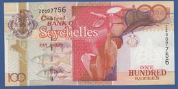 SEYCHELLES - P.40a – 100 RUPEESnd (2001 -2008) - AUNC - REPLACEMENT ZZ007756 RARA - Seychelles