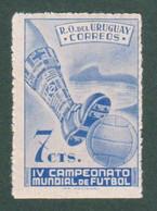 1950 URUGUAY Mnh Variety Bottom Edge Imperforated Ciardi 603d - Soccer Futbol Football World Championship - Uruguay