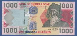 SIERRA LEONE - P.24a  – 1.000 LEONES 2002 - UNC Prefix A - Sierra Leone